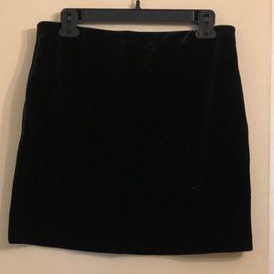 Express velvet skirt